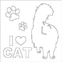 エブリーペット 猫ステッカー(長毛尾立て)