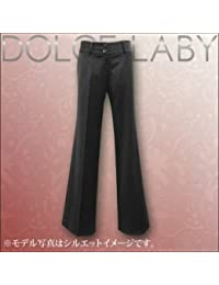 (ドルチェルビ) DOLCE LABY レディース スーツ ヒップハングバギーワイドパンツ 生地:2.ブラック 無地(M27202/TK)