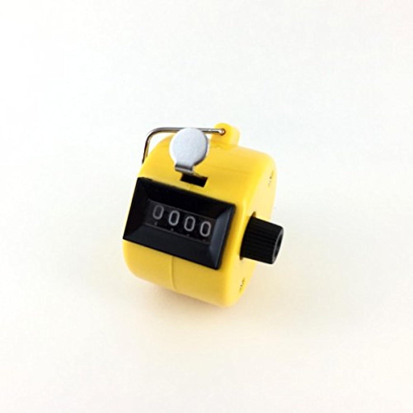 省略発見する戦略エクステカウンター 手持ちホルダー付き 数取器 まつげエクステ用品 カラー4色 (イエロー)