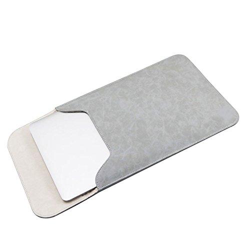 NOTAG Mac Book 用 ケース 13.3インチ PCケース レザー 11.6 パソコンケース 15.4 PC ケース ノート カバー スリーブケース PCバッグ 封筒型カバー タブレットケース 傷防止 防水 超薄型 軽量 おしゃれ (13.3インチ, グレー)