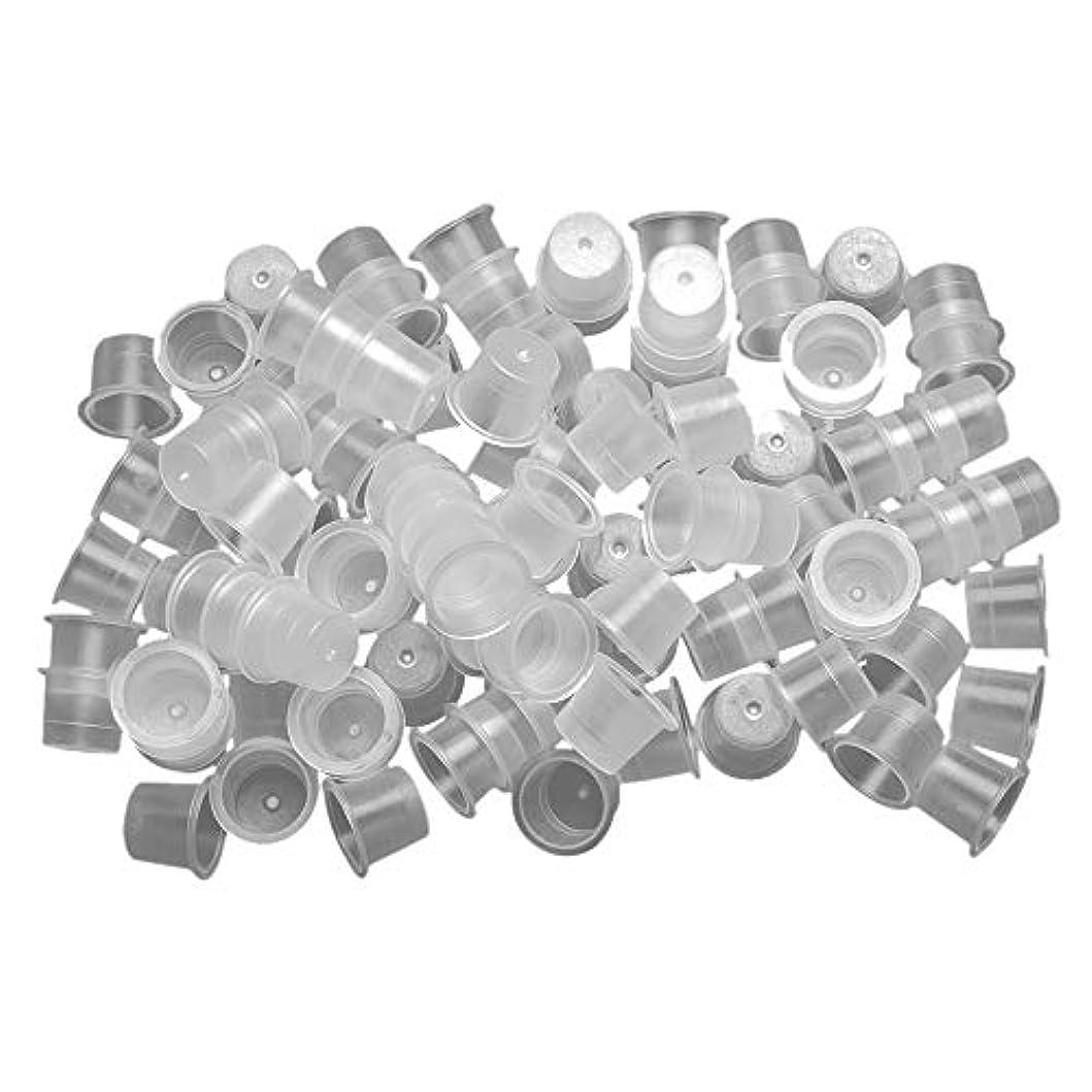 ポーズバンド慎重ATOMUS インクキャップ、タトゥーインクカップ、使い捨て永久的な眉毛入れ墨ピグメントコンテナ、0.8cm 1.3cm 1.5cm 100個-1000個セット (900pcs(0.8cm 300pcs+ 1.3cm 300pcs + 1.5cm 300pcs))