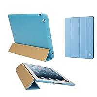 Jisoncase Executive Premium Leatherette Smart Cover Case for iPad 2, 3 & 4, JS-ID-006-Blue [並行輸入品]