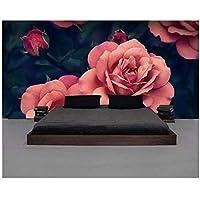 """寝室の壁のカスタム壁画の壁紙-3Dはバラの背景の壁3Dを描いた-ホームデコレーションの絵画-400cm(W)x250cm(H)(13'1""""x8'2"""")ft"""