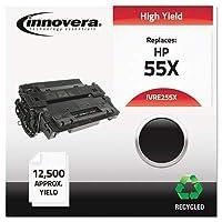 ivre255X e255X互換、再生、ce255X ( 55x )レーザートナー、12500Yield、ブラック
