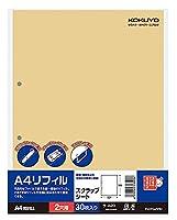 (まとめ買い)コクヨ A4リフィル スクラップブック用替紙 2穴 A4 30枚 ラ-A20 【×10】