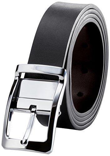 マックベルト リバーシブル ベルト メンズ 本革 レザーベルト 両面革 回転バックル サイズ調整可能 ロングサイズ 専用箱&説明書 130cm MBV-04sv
