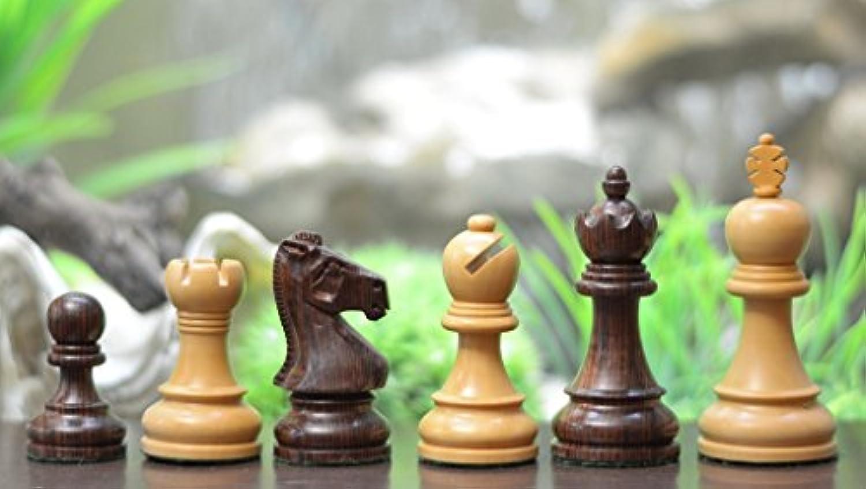 Chessbazaar The Staunton Series Wooden Economy Chess Pieces Rose & Box Wood