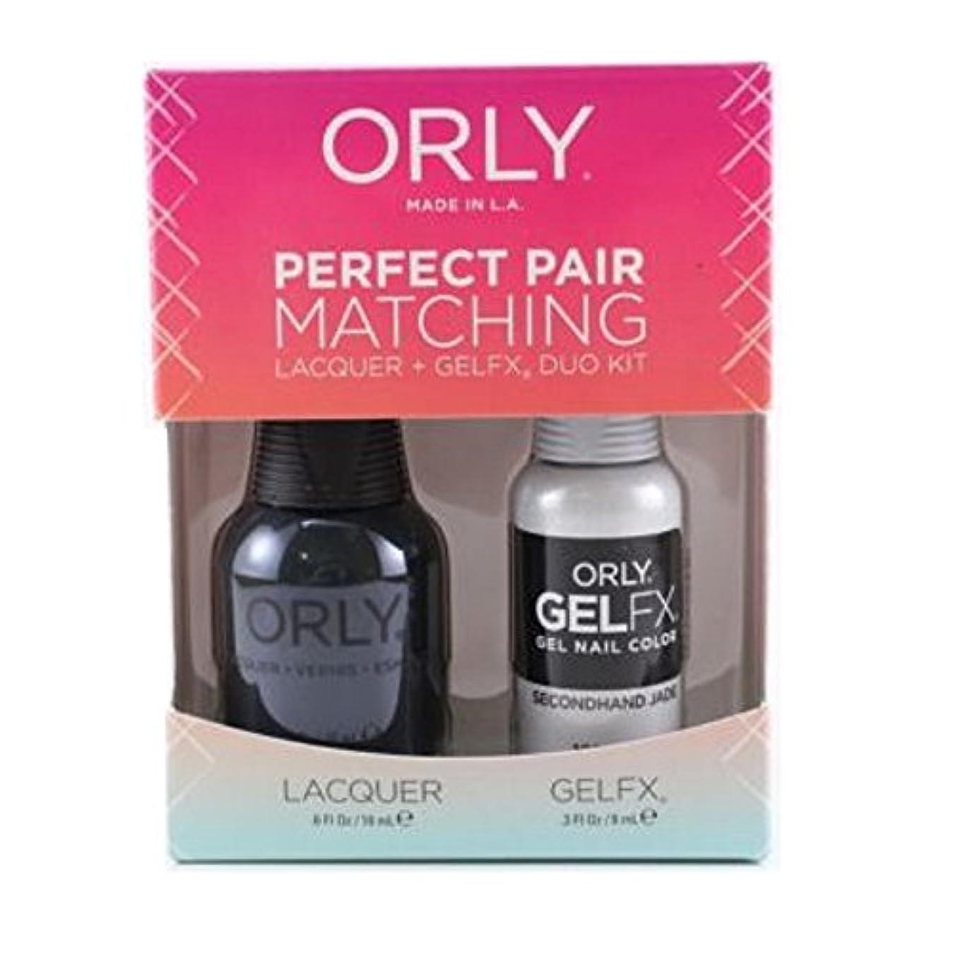 鉄道アパートボルトOrly Lacquer + Gel FX - Perfect Pair Matching DUO Kit - Secondhand Jade