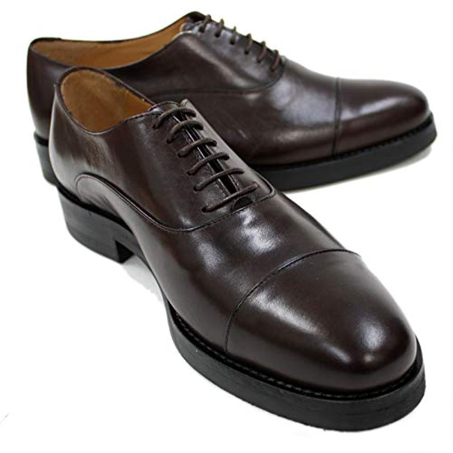 一般的な兄アレンジ(イルカンパゴ) IL CAMPAGO イタリア製 ストレートチップシューズ 茶 ドレスシューズ フォーマル対応 革靴 本革 紳士靴 ラバーソール