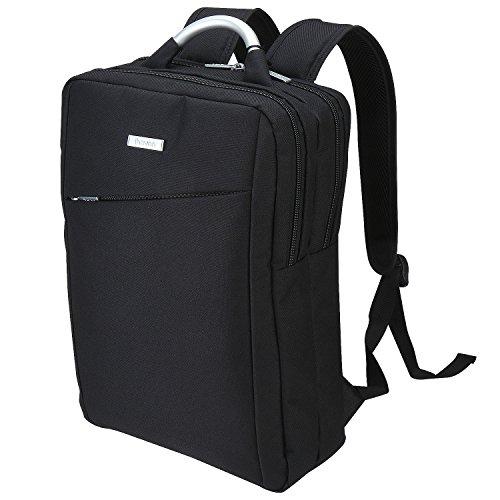 iHOVEN 男女兼用 ラップトップバックパック(ブラック)