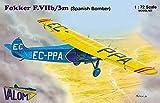 バロム 1/72 スペイン共和国軍 フォッカー F.7b/3M 三発機 爆撃機 プラモデル CV72064