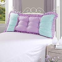 NBgy ダブルベッドの背もたれ、綿のクッション、ソファの背中、マットレス、ウエストパッド、取り外し可能と洗える、寝室に最適、ソファ、ホテル、3色、4サイズ (色 : A, サイズ さいず : M)