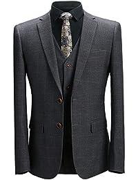 [YFFUSHI] スーツ メンス スリーピース チェック 6柄 XS-5XL