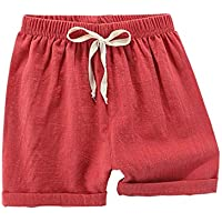 Elonglin Boys/Girls Shorts Cotton Linen Blend Cute Shorts Casual Summer Kids Toddler Baby Beach Short Pants Bottom