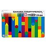 サクラクレパス 色鉛筆 クーピー 缶入 24色 5個 FY24(5)