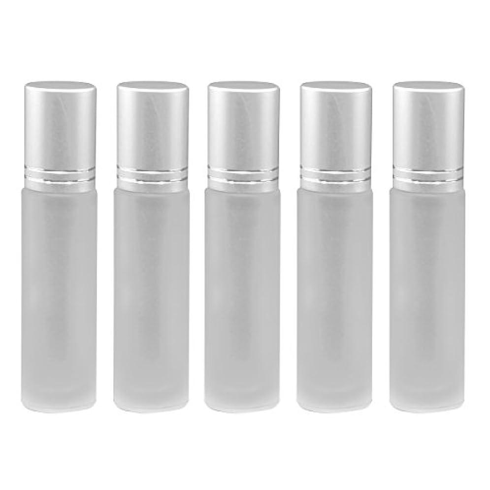 グリース更新する耐久TINKSKY ロールオンボトル アロマボトル 精油瓶 香水瓶 小分け ガラス瓶 10ml 5本
