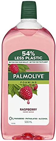 Palmolive Foaming Hand Wash Soap Raspberry Refill and Save 0% Parabens 0% Phthalates 0% Alcohol Recyclable, 50