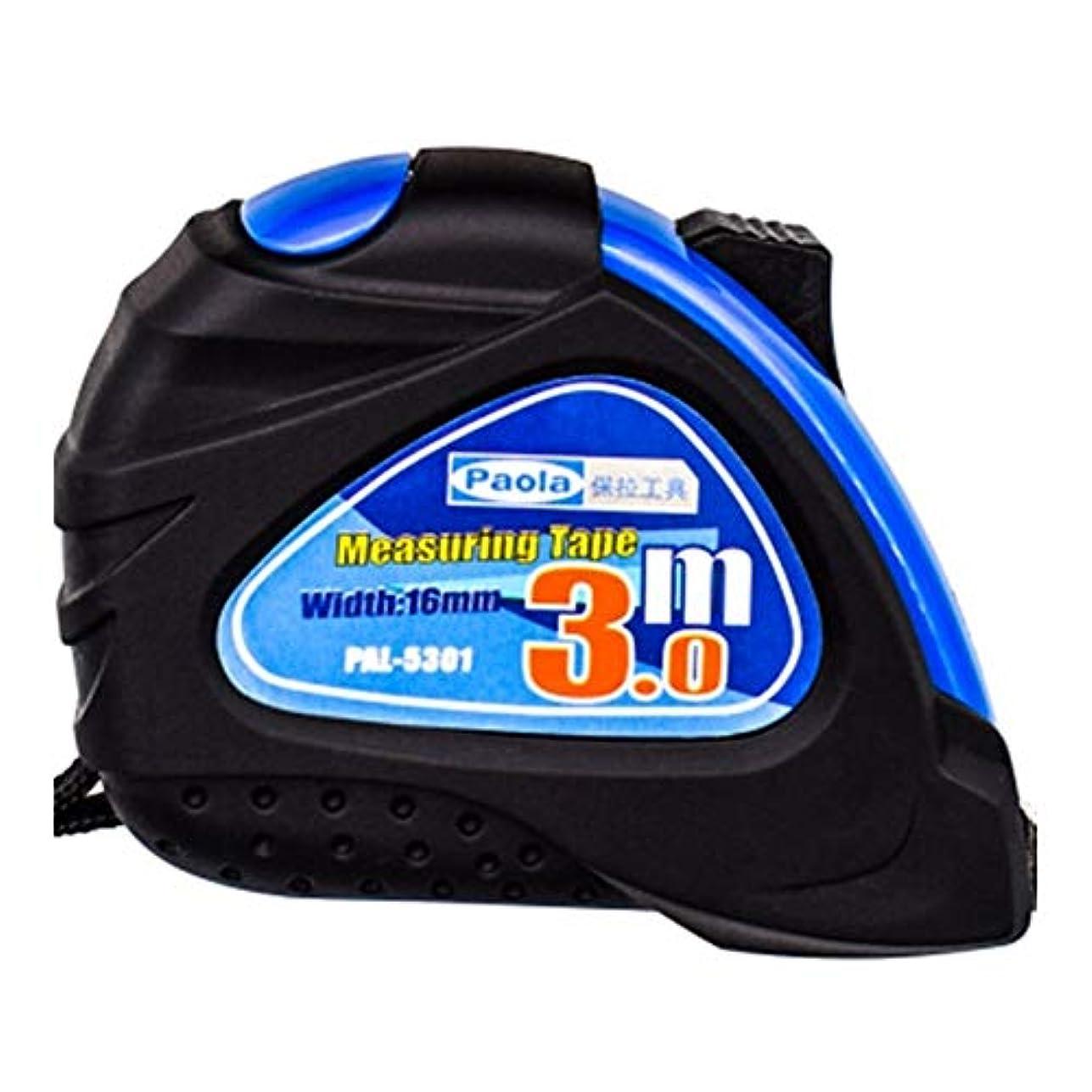 締め切りネクタイ軽くHXSD 巻尺3 M、5 M、ボックスルールダブルブレーキオールインクルーシブステンレスメトリックルーラー、測定ツール (Color : Blue, Size : 3m)