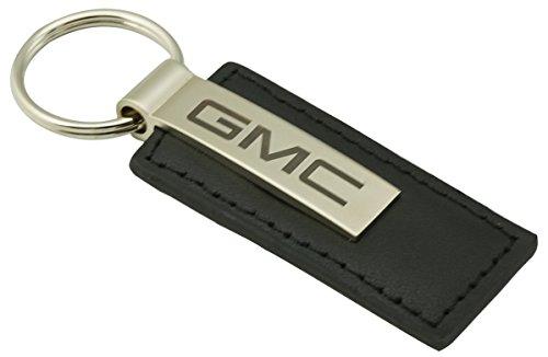 US純正GMC ブラックレザーキーホルダー KC1540.GMC