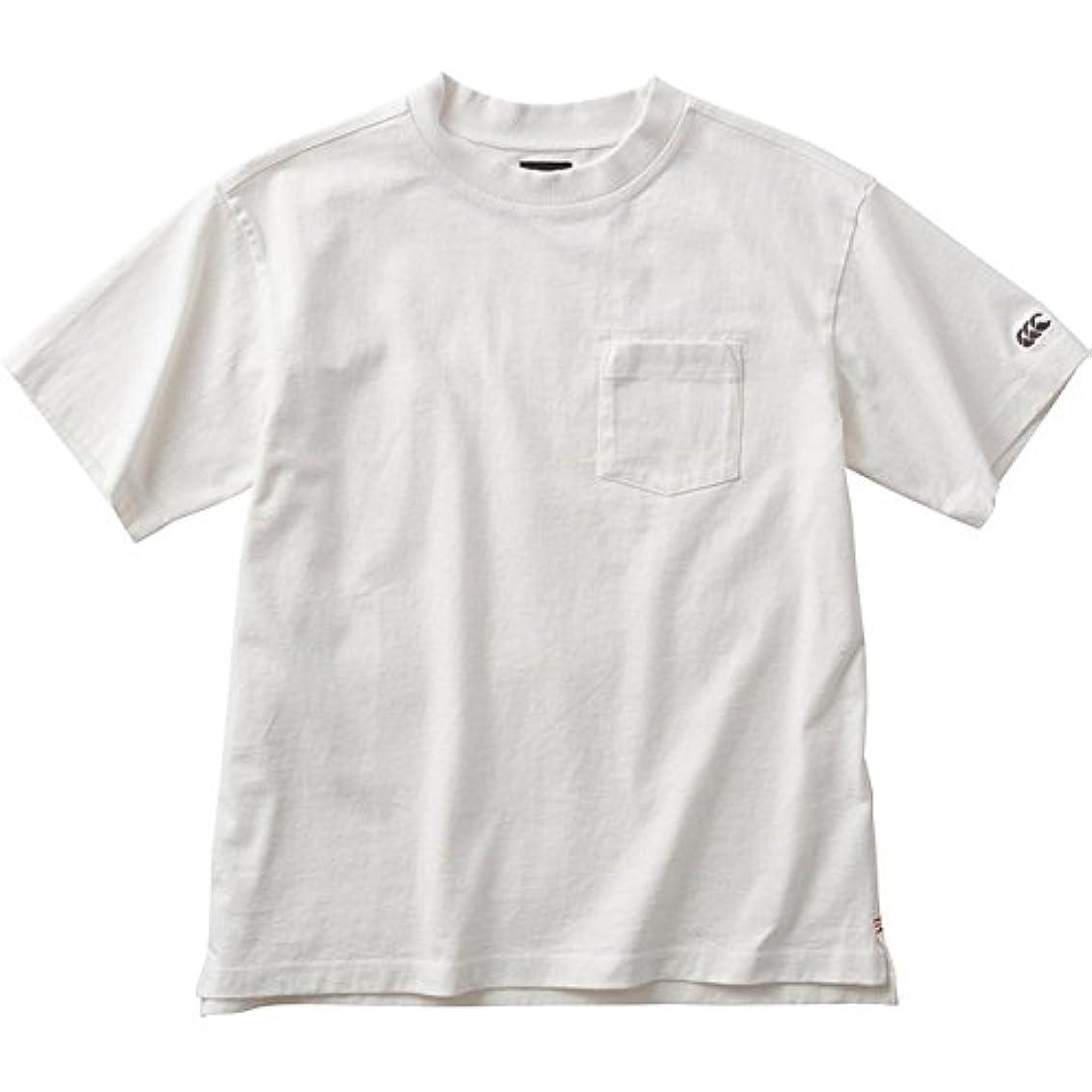 スパークパワーハンカチ[カンタベリー] メンズ ショートスリーブ ヘビー Tシャツ オフホワイト RA38136 11