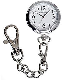 【リトルマジック】見やすい文字盤 3気圧防水 懐中時計 逆さ文字盤 長さの違う3種のチェーン 時計 ポケットウォッチ 日本製クオーツ ナースウォッチ (スタンダード)