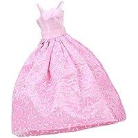ドール用  人形用 ウェディングドレス ドレス ピンク 素敵 手作り  アクセサリー