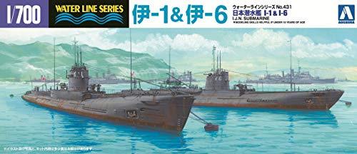 1/700 ウォーターライン No.431 日本海軍潜水艦 伊1・伊6