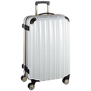 (ビータス) スーツケース BH-F2000 中型 Mサイズ 鏡面パールホワイト【2000 M/PW】