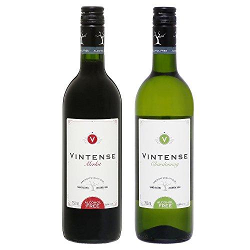 【ノンアルコール ワイン】赤白750ml2本セット ヴィンテンス・メルロー(赤)&ヴィンテンス・シャルドネ(白)ギフト箱入り