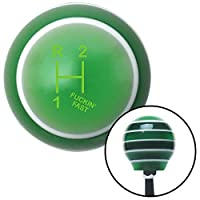 American Shifter 127475 Green Stripe Shift Knob with M16 x 1.5 Insert (Green Shift Pattern Fcking Fast Style 11n) [並行輸入品]