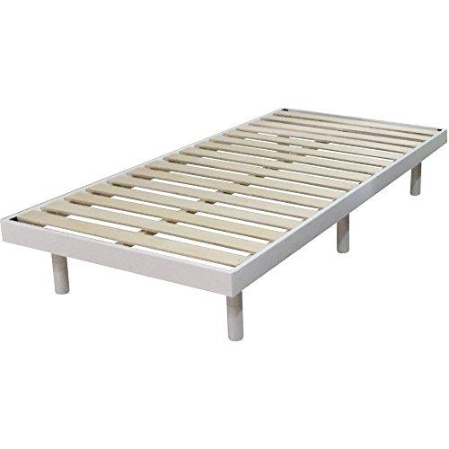 3段階高さ調節 すのこベッド シングル ホワイト DBL-Z001