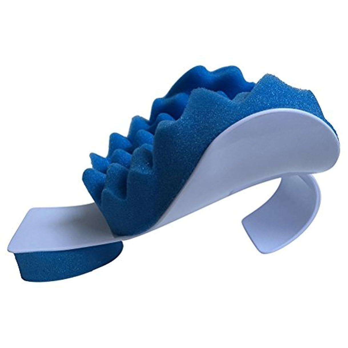 散らす正しく防衛ROSENICE マッサージ枕ネック痛みリリーフとショルダーリラクサーマッサージトラクションピロー(ブルー)