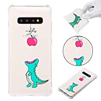 [Galaxy S10 Plus] ケース,Abtory [Slim Thin] Cute Cartoon Printed TPU Shock Absorption Anti-Scratches Flexible Soft Protective ケース Cover for Samsung Galaxy S10 Plus