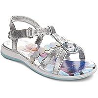 Disney Frozen ELSA Anna Girls Toddler Silver RHIMSTONE Sandal Shoes Various Size