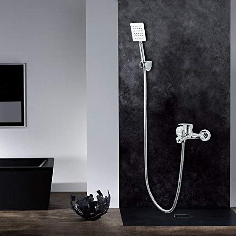 むちゃくちゃ希少性気体のシャワーシステム、シャワー蛇口 - 現代の現代的なクロームシャワーシステム真ちゅうバルブの衛生器具シャワーシンプルなシャワーセット銅の蛇口スイッチトリプルシャワースイッチアクセサリーメッキ
