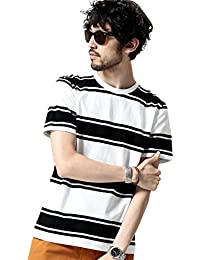 ナノ・ユニバース(nano・universe) プレーティングボーダーTシャツ