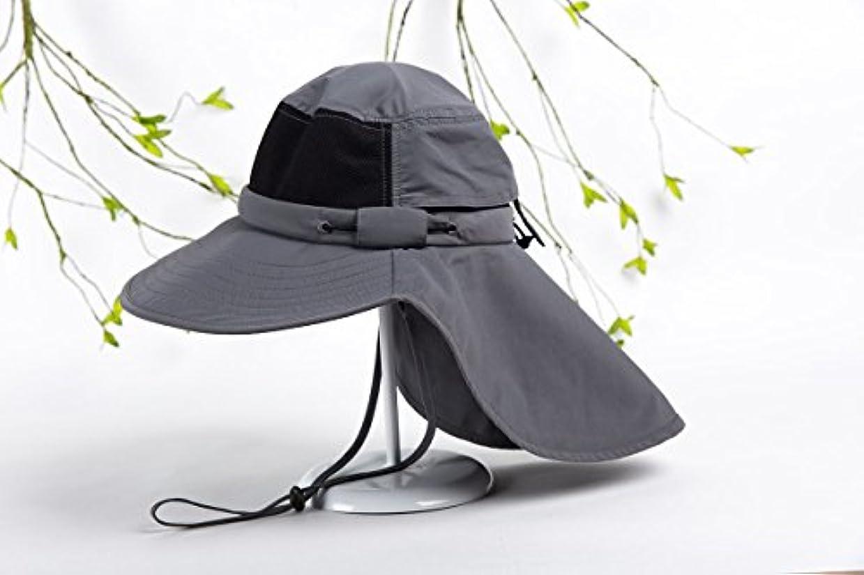 EVoIOユニセックスネックフラップ帽子Sun Protection Hat Large Billキャンプハイキングハンティング釣りキャップ
