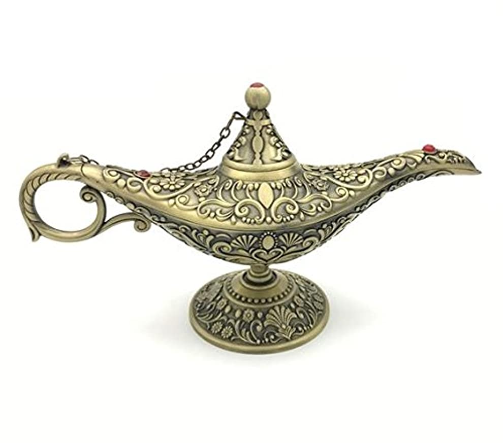 衝撃ペインギリックユニークなWD凡例Aladdin Magic Genie Lamps Incense Burners、Best Holiday Gift銅