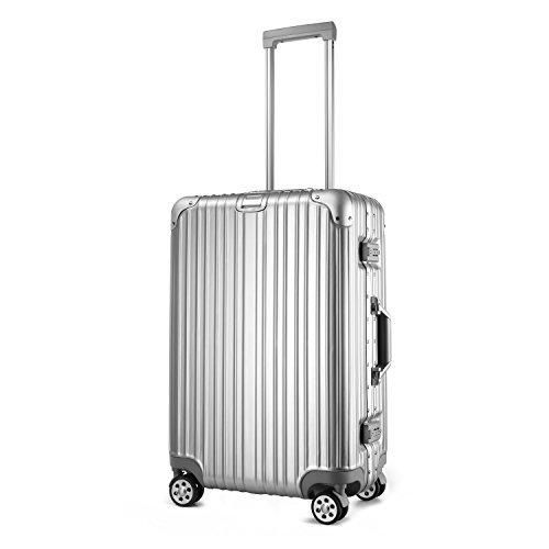 (アスボーグ) ASVOGUE スーツケース キャリーケース TSAロック 鏡面仕上げ アルミフレーム 旅行 軽量 ファスナーレス