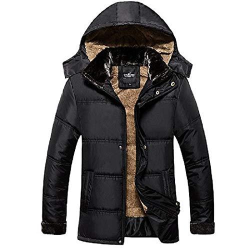 ダウンジャケット メンズ カジュアル アウター コート 防寒 防風 裏起毛 厚手 アウトドア 冬 黑 L