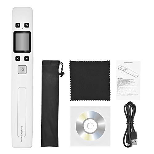 ポータブル ドキュメント スキャナー1050 DPI ハンドヘルド A4 サイズ ドキュメント スキャナー、USB イメージをカラー写真をスキャナー,Black