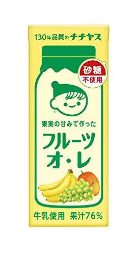 伊藤園 チチヤス 果実の甘みで作った フルーツオ・レ(紙パック) 200ml×24本