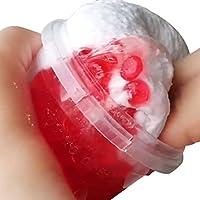 ClayおもちゃStrawberryフラットビーズMixingクラウドSlime Putty香りつき応力Kids 120 ml