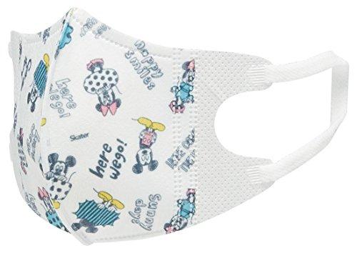 スケーター 三層構造 立体 マスク 小さめ 1-3才 ベビー 子供用 5枚入 ミッキー スケッチブック ディズニー MSKB1