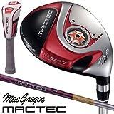 マグレガー ゴルフ マックテック MACTEC FH101 レッド フェアウェイウッド FH5255F カーボンシャフト 3W/SR