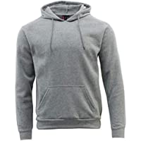Fresh Idea Living Adult Men's Unisex Basic Plain Hoodie Jumper Pullover Sweater Sweatshirt XS-5XL