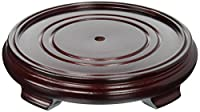 Oriental Furniture Rosewood Pedestal Stand - (Size 7.5 in. Base Diameter) by ORIENTAL FURNITURE