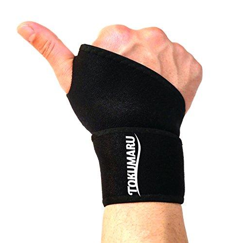 【TOKUMARU】 手首 サポーター 腱鞘炎 サポーター 親指保護 筋トレ テニス tfcc損傷 スノボー 怪我防止 関節保護 男女兼用 左右兼用 2枚セット (フリーサイズ)