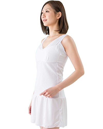 (glamore) グラモア 下着屋さんが作った可愛い和装インナー しっかり補正 FT0058B (M, ホワイト)