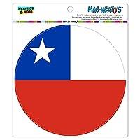 チリ国立国旗 - サークル MAG-格好いい'S(TM)カー/冷蔵庫マグネット